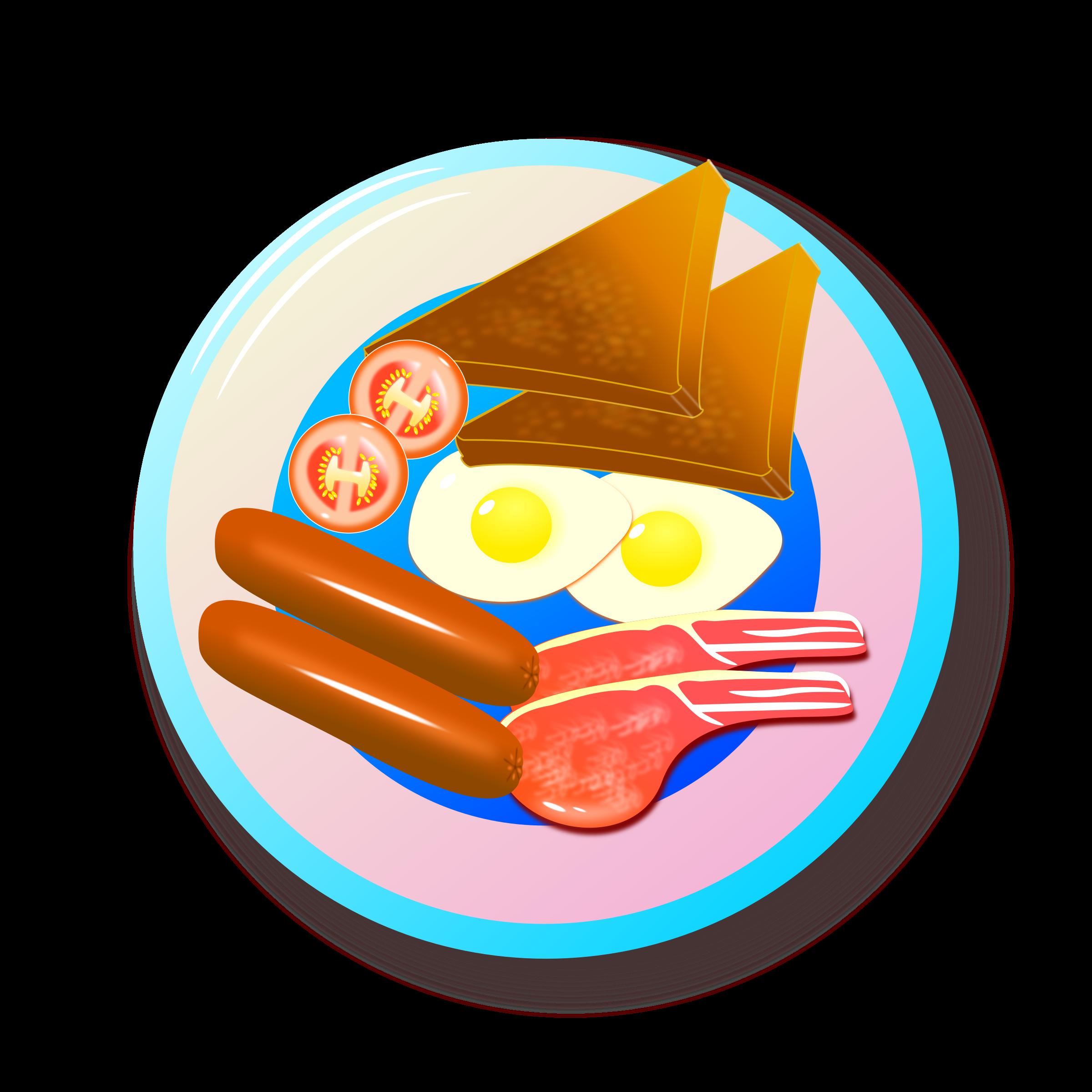 Full english breakfast big. Good clipart unhealthy plate food
