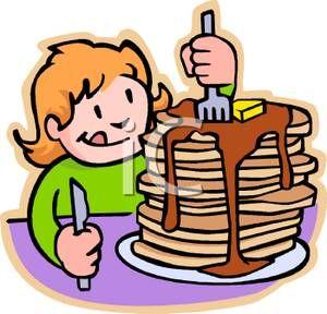 Breakfast clipart preschool. Drawings of kids eating