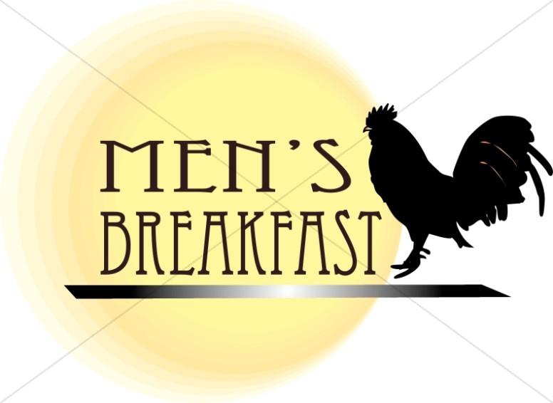 Breakfast clipart student. Mens ministry word art