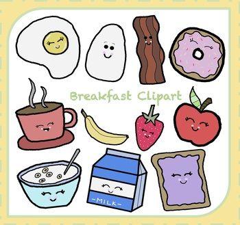 Breakfast clipart teacher. Food art clip