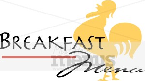 Icon. Breakfast clipart text