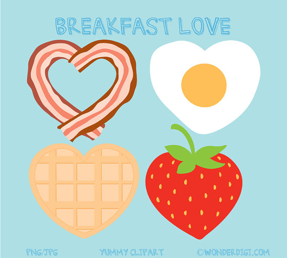 Breakfast clipart text. Bacon clip art and