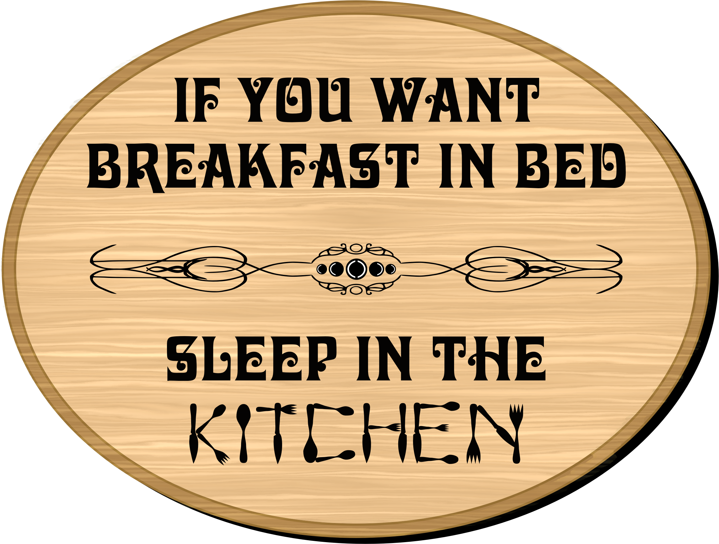 In bed big image. Breakfast clipart text