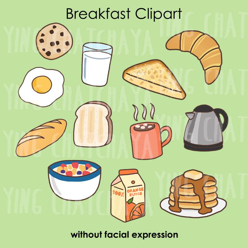 Digital download clip art. Breakfast clipart text