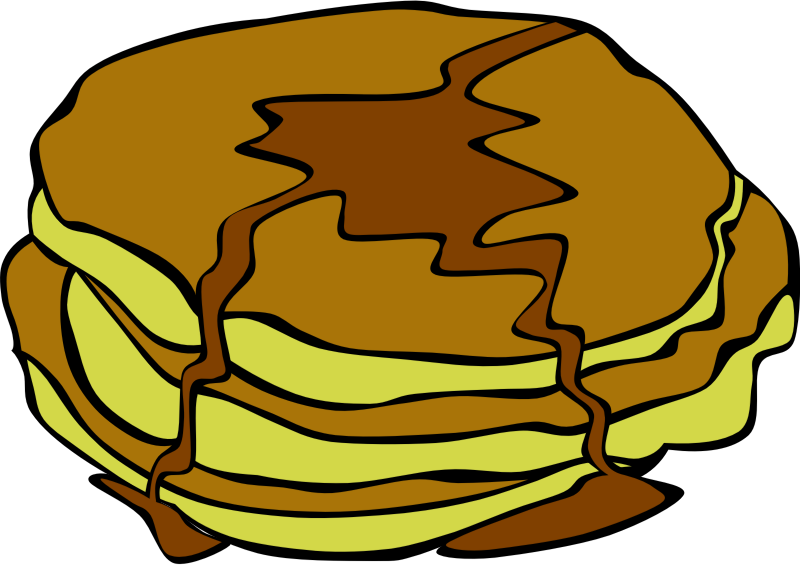 Clipart food breakfast. Fast pancakes medium image