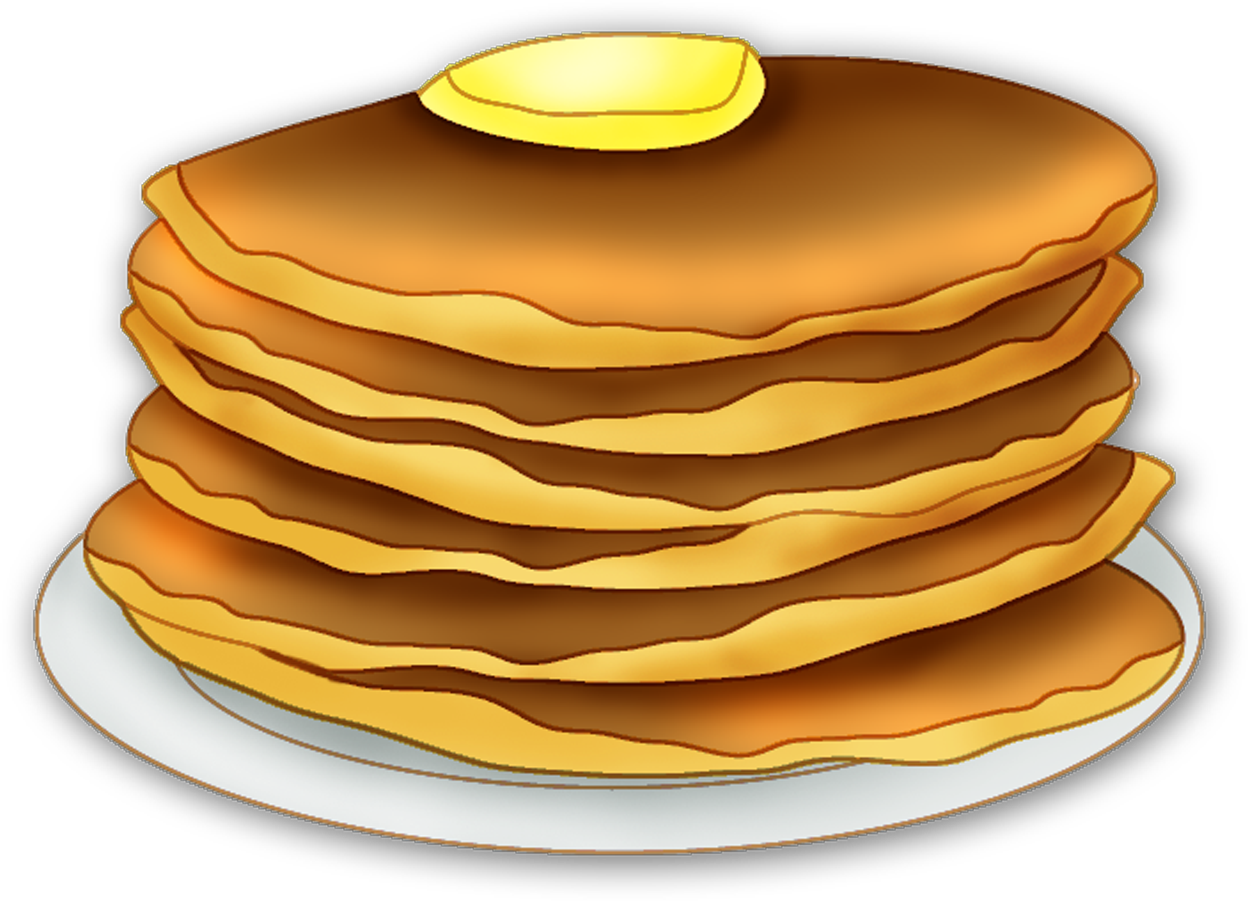 collection of pancake. Breakfast clipart transparent background