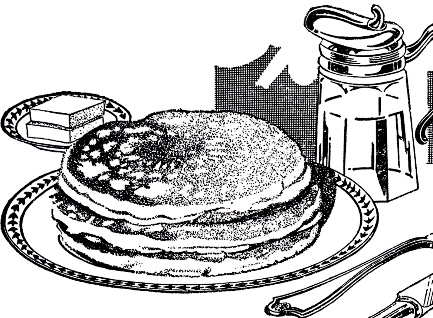 Breakfast clipart vintage. Pancake image the graphics