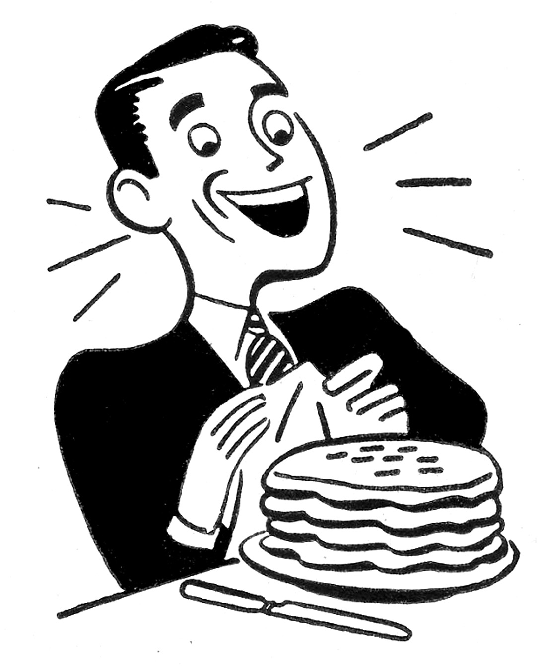 Retro father s day. Breakfast clipart vintage