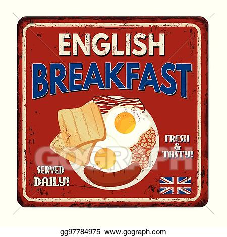 Eps vector english rusty. Breakfast clipart vintage