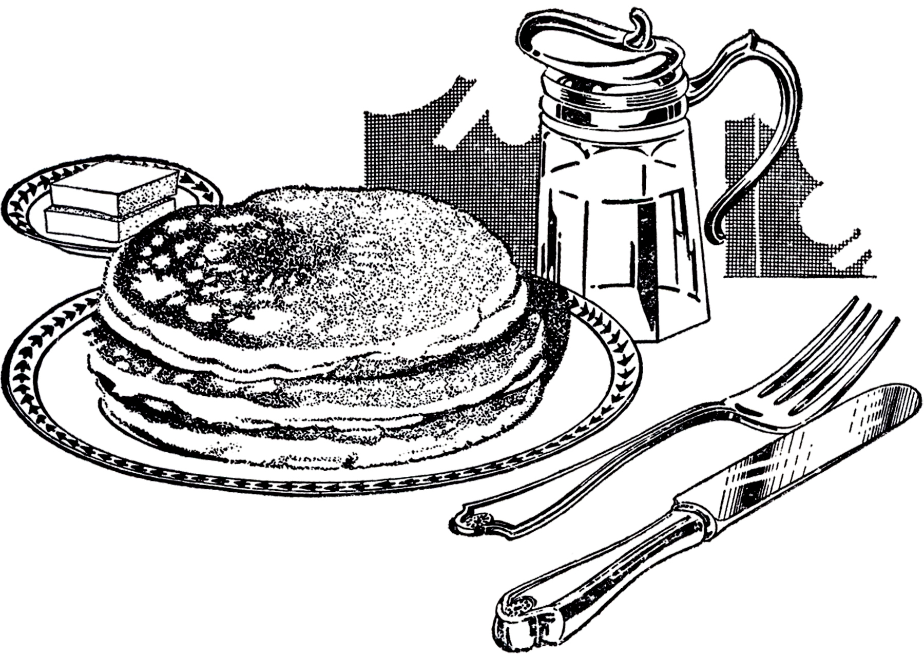 breakfast clipart vintage