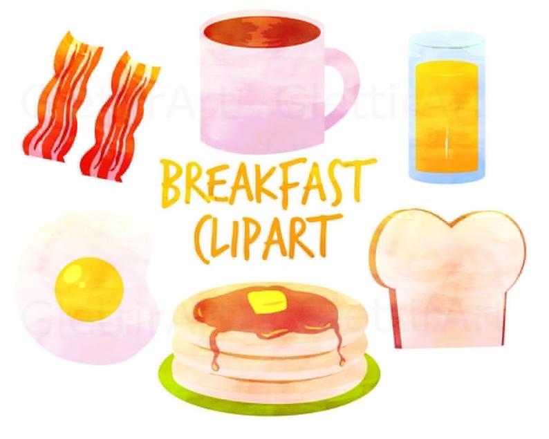 Breafast clip art for. Breakfast clipart watercolor