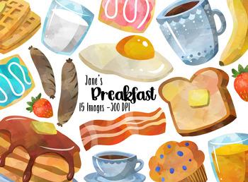 By digitalartsi teachers pay. Breakfast clipart watercolor