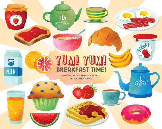 Texture nutrition food by. Breakfast clipart watercolor