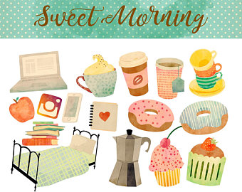 Morning download instant coffee. Breakfast clipart watercolor