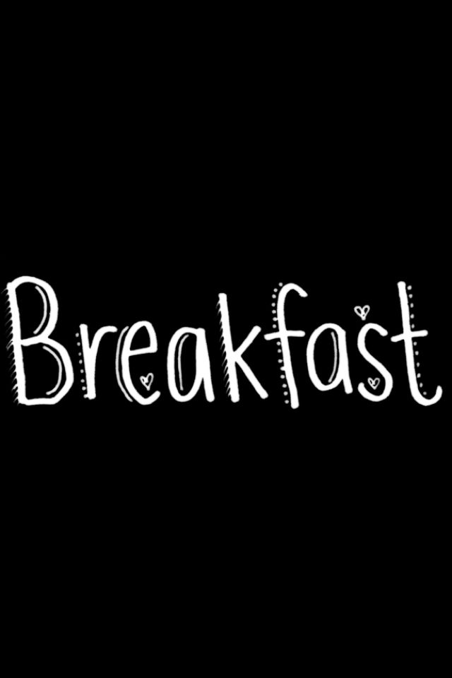 Art for journal pages. Breakfast clipart word