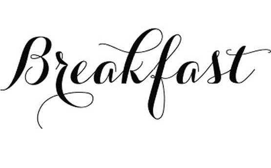 Black line background design. Breakfast clipart word