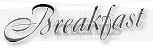 . Breakfast clipart word