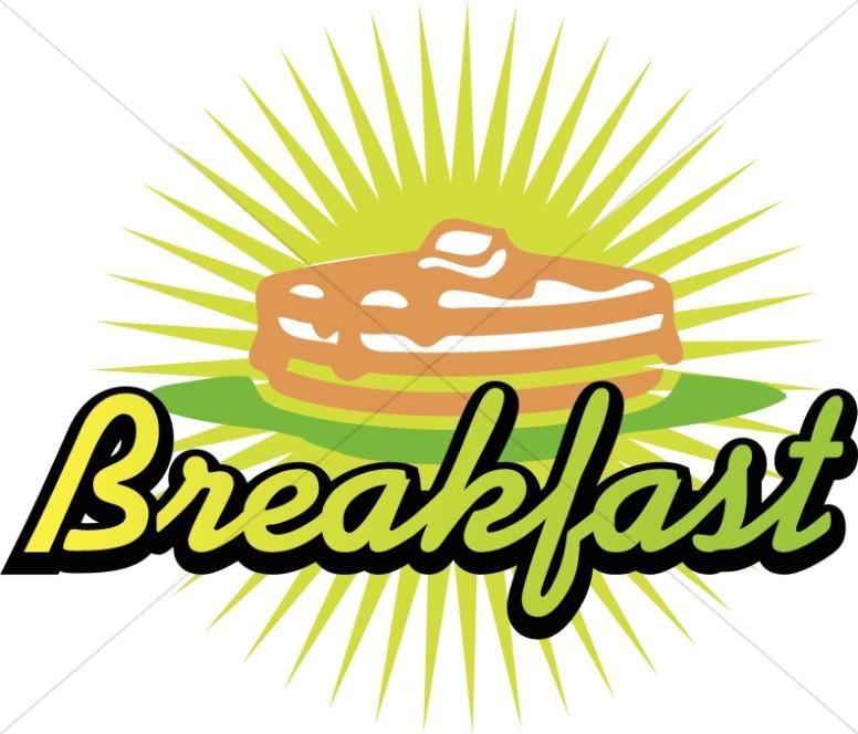 Breakfast clipart word. Pancake announcement refreshments art