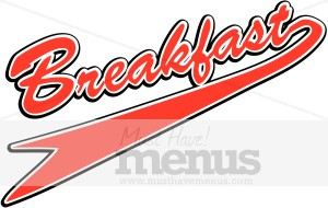 Breakfast clipart word. Pennant icon