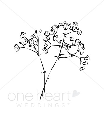 Breath clipart. Baby flower wedding