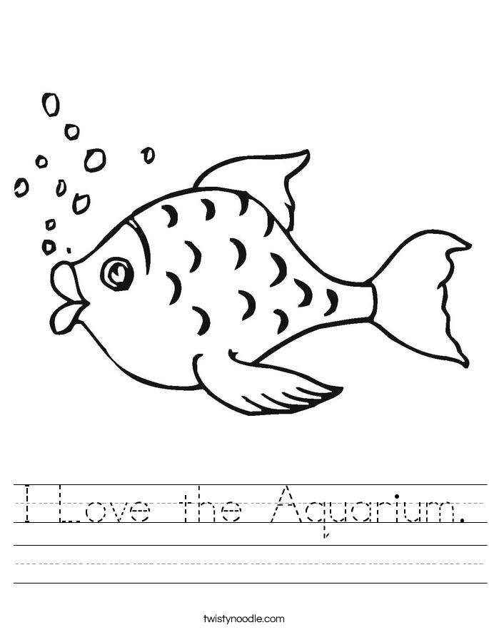 I love the aquarium. Breathe clipart black and white