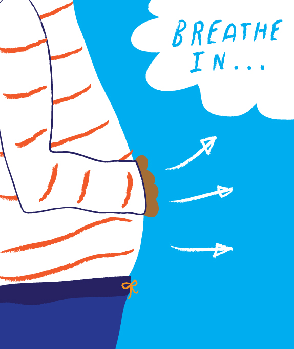 Calming exercise for kids. Breath clipart belly breathing