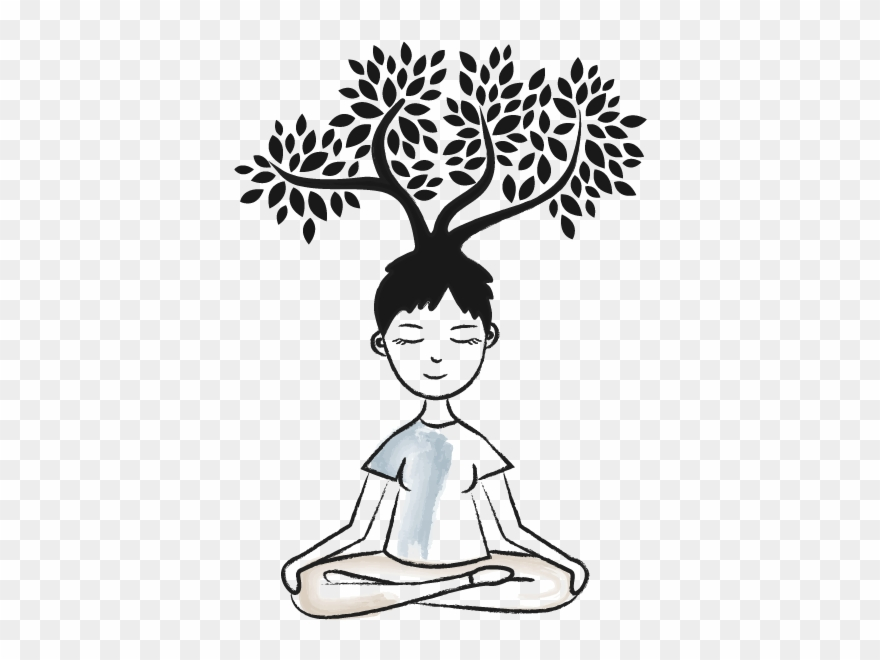Calm clipart mindfulness. Relax mindful breathing black