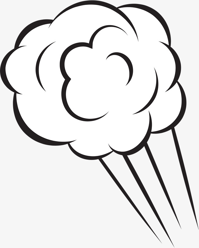 Hand painted cloud lines. Breath clipart black and white