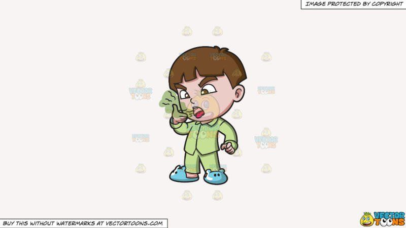 A smelling his morning. Breath clipart boy