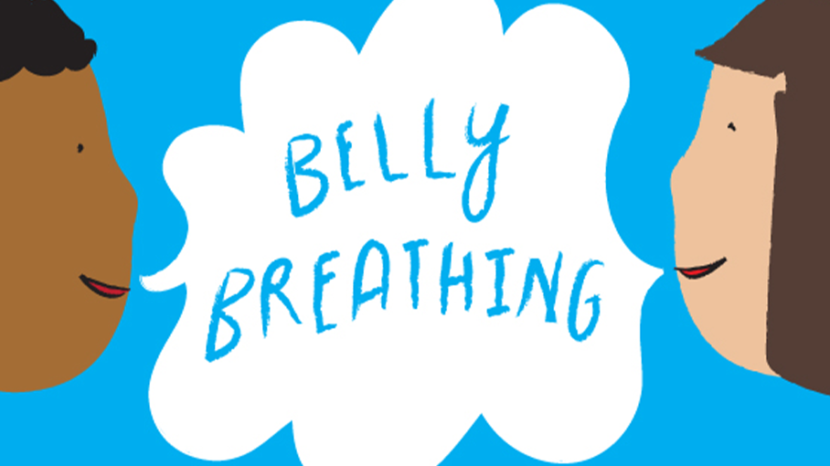 Breath clipart calm breathing. Practice mindfulness with belly