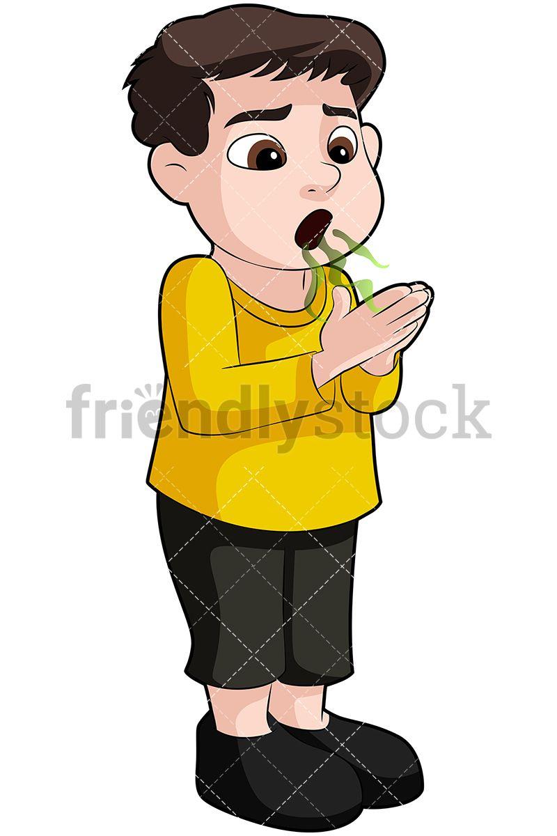 Breath clipart cartoon. Little boy exhaling a