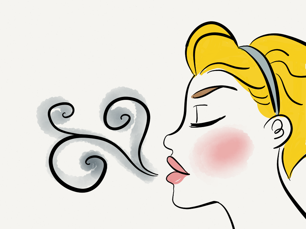 Breathe in and out. Breath clipart clip art