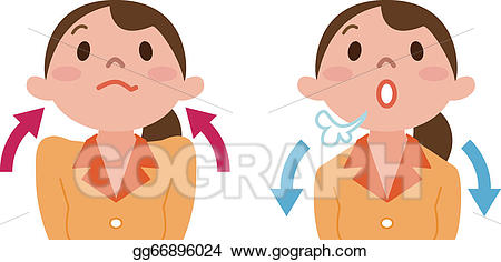 Breathing clipart cartoon. Vector deep illustration gg