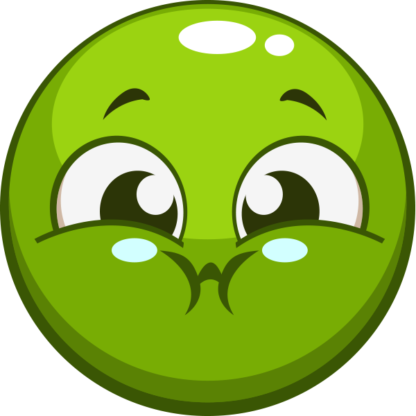 Green smiley and smileys. Breath clipart emoji