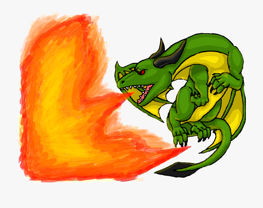 Breath clipart exhalation. Breathing dragon green fire