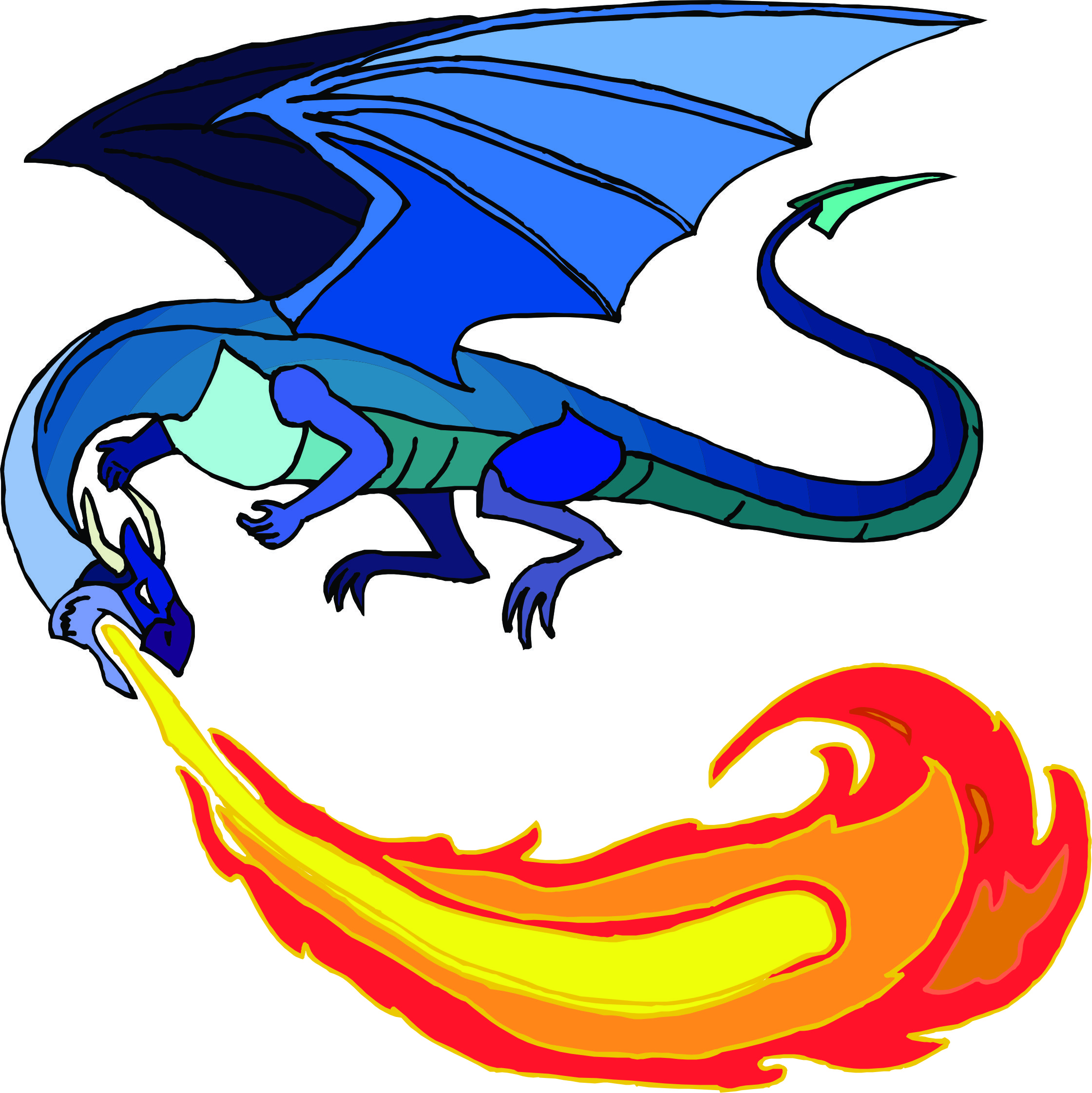 Breath clipart fire. Free cartoon dragon breathing