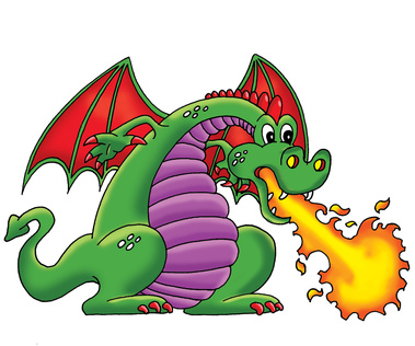 Free cartoon dragon breathing. Breath clipart fire