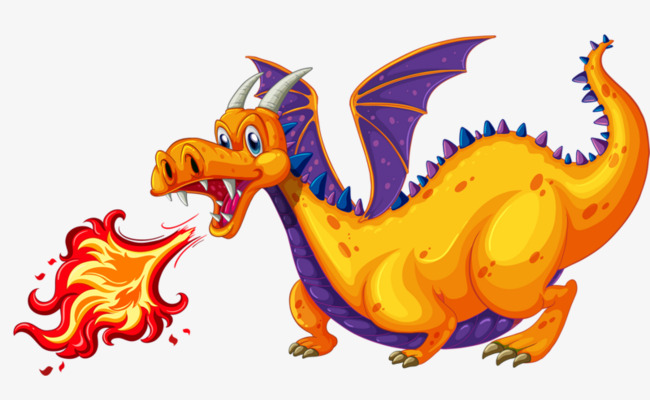 Breath clipart fire. Breathing dragon hand painted