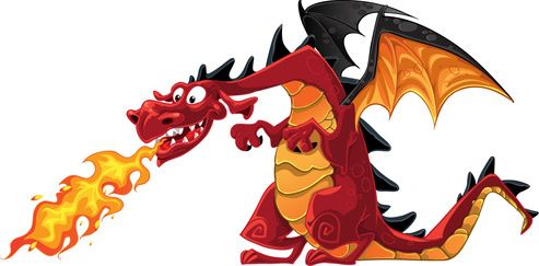Breath clipart fire. Green breathing dragon free