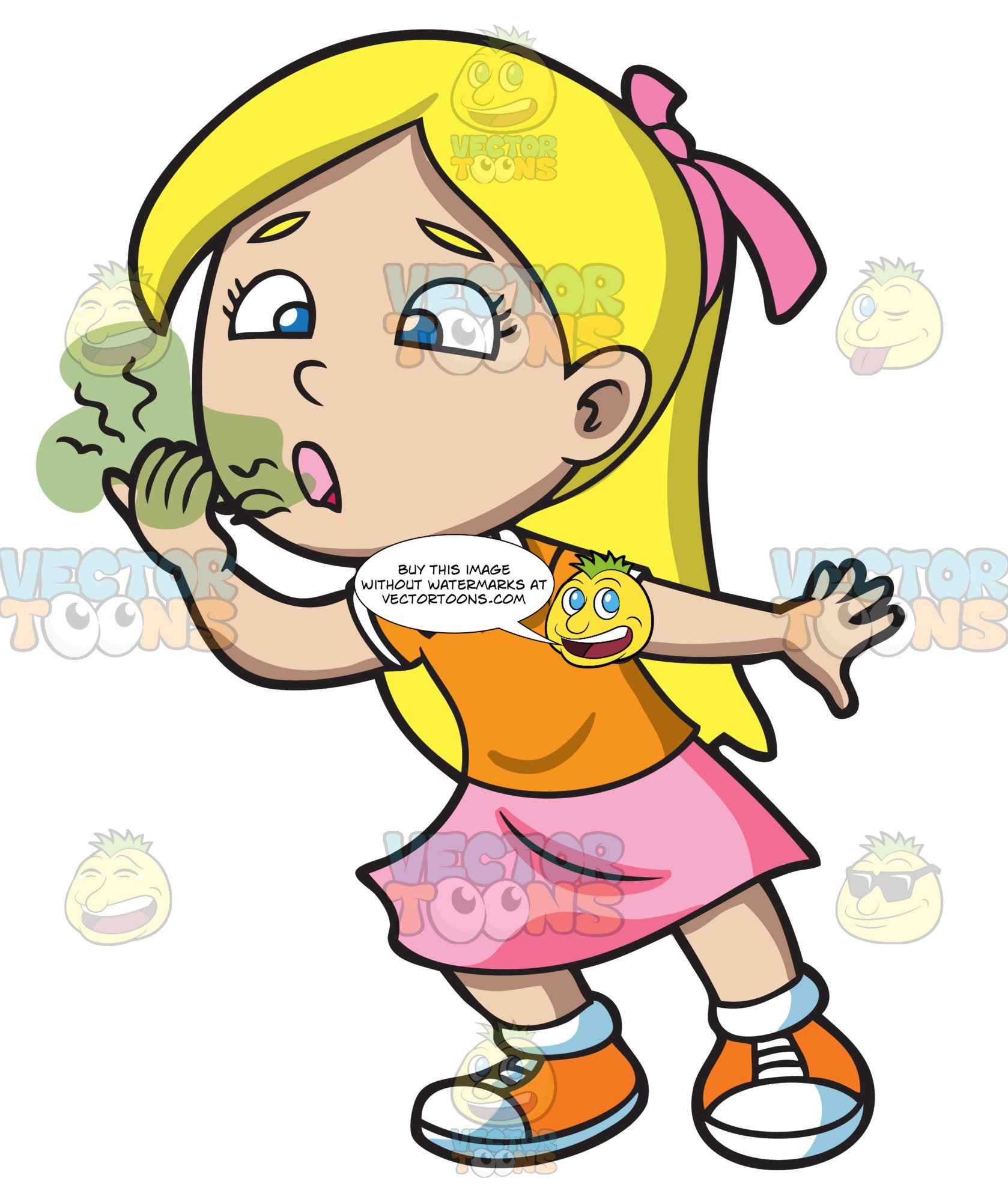 A girl trying to. Breath clipart halitosis