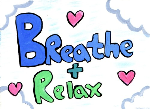 Breathe and the daily. Breathing clipart relaxation