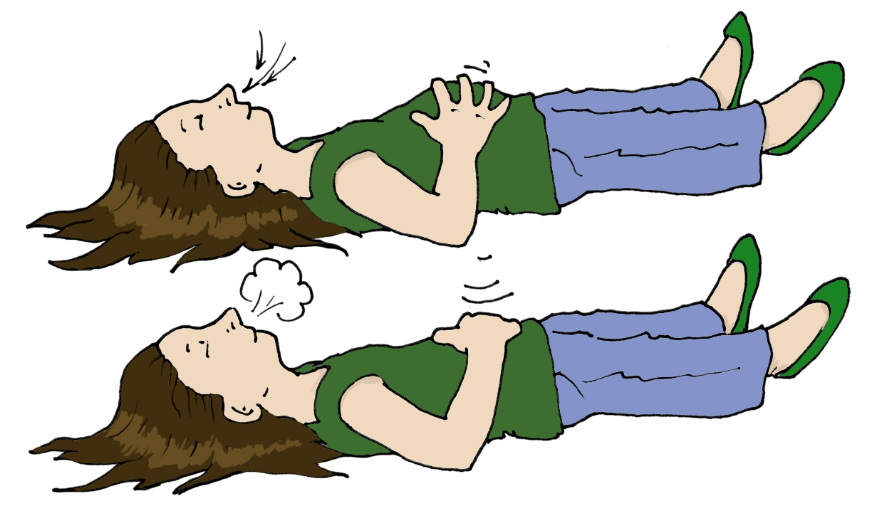 Relaxing breathe out panda. Breathing clipart cartoon