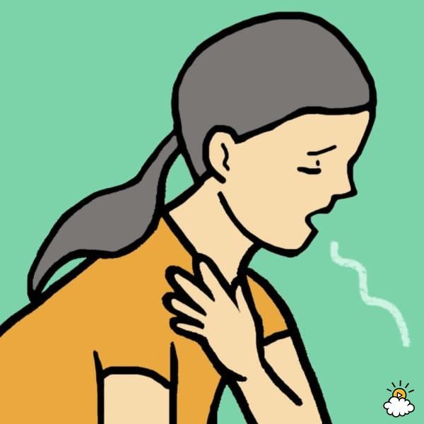 Shortness of breath station. Breathe clipart human breathing