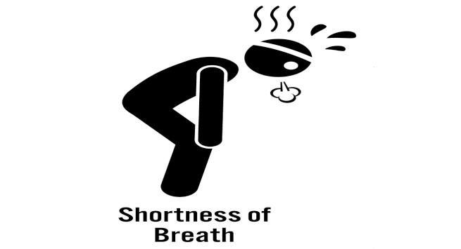 Breathe clipart black and white. Shortness of breath station
