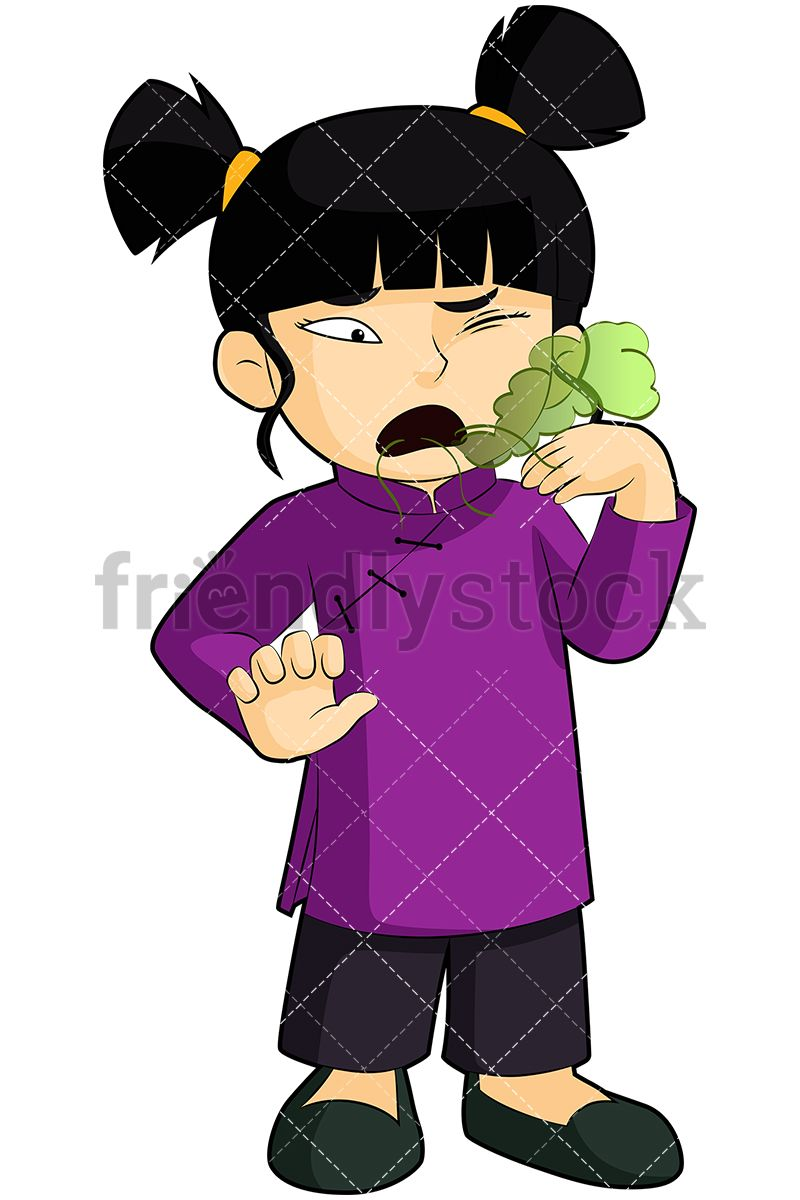 Breath clipart stinky. Asian girl with bad