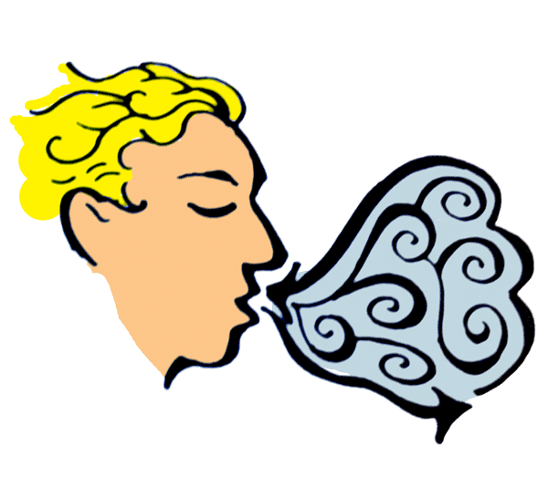 Diaphragmatic exhalation relaxation clip. Breathing clipart belly breathing