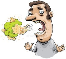 Breath clipart unpleasant. Bad stock vectors me