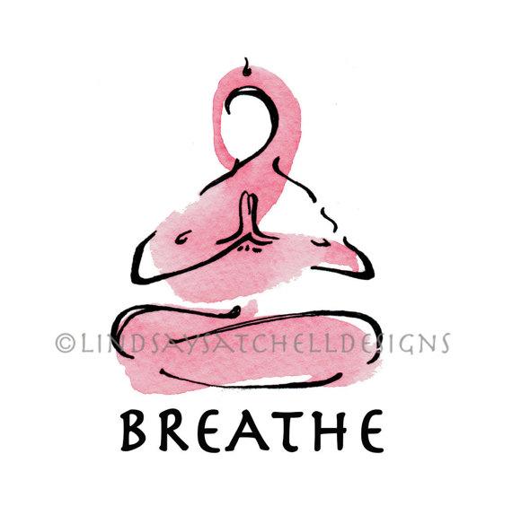 Art print breathe . Breath clipart yoga breathing