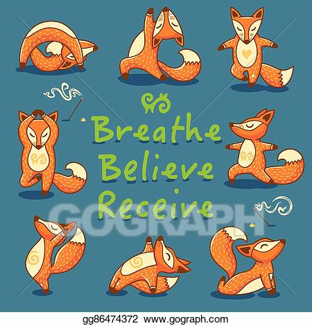 Breathe clipart cartoon. Eps vector believe receive