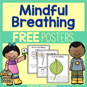 Mindfulness posters free . Breathing clipart mindful breathing